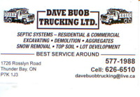 Septic Systems, Heavy equipment, Trucking