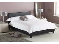 100% GUARANTEED PRICE *** BRAND NEW FAUX LEATHER BED FRAME AND MATTRESS DOUBLE/SINGLE