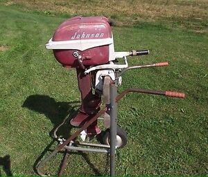 Vintage Johnson Outboard with Fuel Can