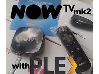 Now tv with lifetime plex iptv and vod