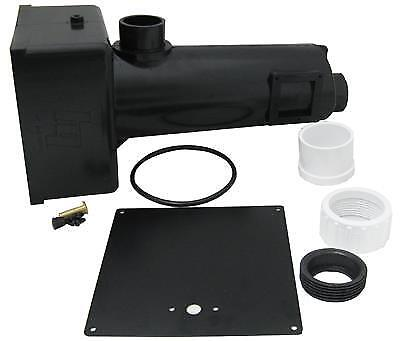 Hydro Quip Spa Heater Housing Manifold Kit , Black ABS - 48-