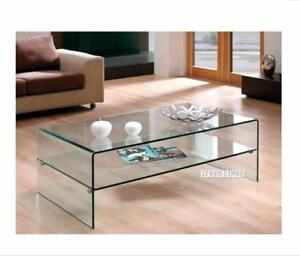 Ifurniture Crazy Sale Bent Glass Coffee Table Console TV Stand