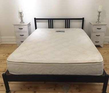 IKEA DOUBLE BED- very comfortable mattress and timber slat frame
