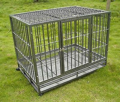 """Hammigrid 42"""" Commercial Quality Heavy Duty Pet Dog Cage Cra"""