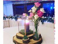 Wedding centre piece flower vase milk bottles x15