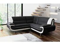 NEW Carol leather corner sofa