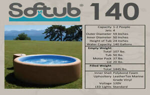 2005 SofTub reliable portable hot tub- the motor heats water!