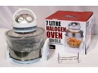 Your Kitchen... 1000W 7L Halogen in White with 5L Extender Ring, Recipe Book and Accessory Pack