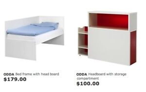 Odda Twin Bed with Bookcase Headboard from IKEA