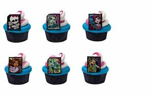 Monster High cupcake rings (24) party favor cake topper 2 dozen