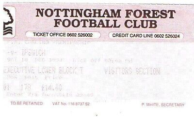 Ticket - Nottingham Forest v Ipswich Town 10.12.94