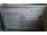Beautiful Antique Silver solid wood Cupboard/Cabinet with two drawers