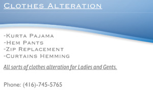 Tailoring and clothes alteration