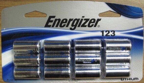 12 Pack 123 New Genuine Fresh Energizer CR123A 3v Lithium