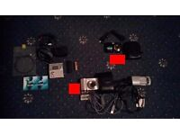 Fujifilm and Samsung digital cameras plus Sharp MD player with lots of extras!