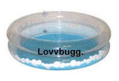 "Lovvbugg Pool for 18"" American Girl Doll Swim--Always Use Pretend Water"