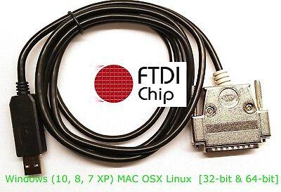 Ftdi Usb Db-25 Male Serial Rs-232c Null Modem Full Handsh...