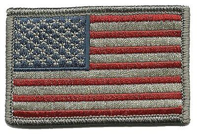 Tactical USA Flag Subdued EMROIDERED MILITARY 3.0 INCH  ACU COMBAT HOOK PATCH