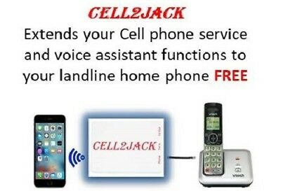 Cell2Jack Bluetooth gateway - cellphone to landline home phone adapter.