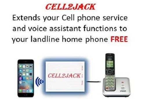 Cell2Jack - Cellphone to Home Phone Adapter. Avoid Harmful C