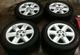 "19"" Range Rover Alloy Wheels Tyres 255/55R19 Land Vogue Genuine"