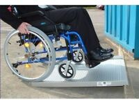 ROLL-UP ALUMINIUM RAMP FOR MOBILITY SCOOTERS AND WHEELCHAIRS