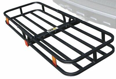 Vehicle Hitch Mounted Cargo Carrier w/ Highly Visible Reflectors (53 x