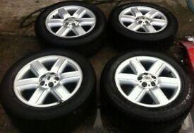 "19"" Range Rover Alloy Wheels Tyres 255/55R19 Land Vogue Genuine"
