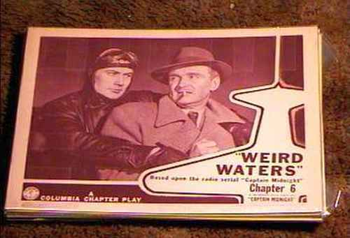 CAPTAIN MIDNIGHT WEIRD WATERS CHAPTER 6  LOBBY CARD #2  GREAT 1942