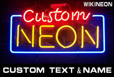 Custom Name Text Beer Bar Business Open Pizza Repair Neon Light Sign 13x8