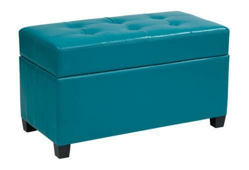 Blue Storage Ottoman Ebay