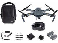 DJI Mavic Pro Fly More Combo (4K Stabilized Camera, Active Track, Avoidance, GPS, WiFi)