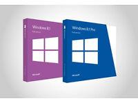 Windows 8.1 / Windows 8 With Key 32 & 64-bit FULL INSTALLATION