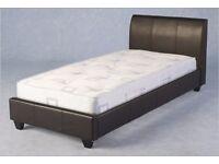 (Brand New) Primera Bed 3' Bed & Headboard - Antique Shine Expresso Brown SPV72054 BED FRAME ONLY