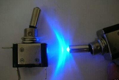 Car Boat Blue Led 12v Locking Indicator Light Air Craft Style Toggle Switchb07d