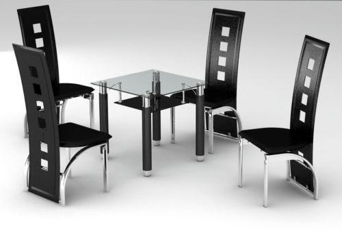 Black Glass Square Dining Table eBay : 3 from www.ebay.co.uk size 500 x 341 jpeg 17kB