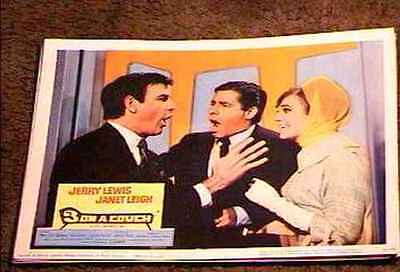 THREE ON A COUCH 1966 LOBBY CARD #2 JERRY LEWIS