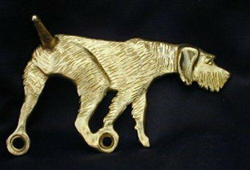 GERMAN WIREHAIRED POINTER, GWP Hook in Bronze