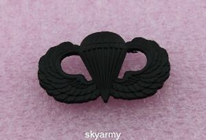 US-ARMY-AIRBORNE-PARATROOPER-PARACHUTIST-JUMP-WINGS-BADGE-INSIGNIA-PIN-BLACK