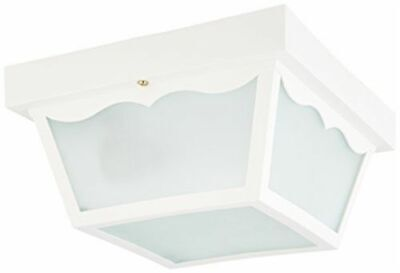"Nuvo 77-879 - 10"" Carport Outdoor Ceiling Fixture with Frosted Acrylic Panels"