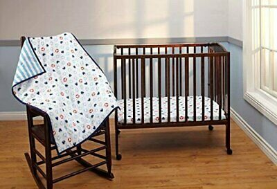 Disney Mickey Mouse Porta Crib Bedding 3 Piece -