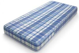 Single Bed Mattress - 90 x 190cm - (with Foam Mattress Topper for extra comfort)