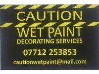 Caution wet paint decorating services