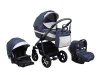 3 in 1 TRAVEL SYSTEM PRAM CARRYCOT BUGGY STROLLER - MINT CONDITION