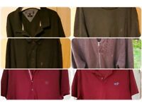 Bundle of mens xl tops x 5 & a cardy