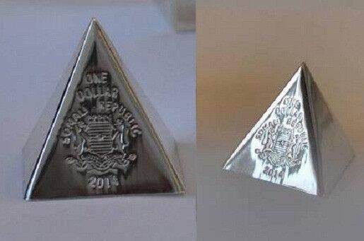 Somalia 2014 3D $1 Geometry Pyramid-Unusual