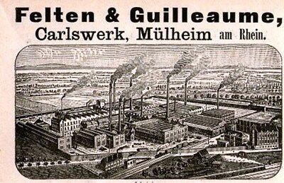Felten & Guilleaume Carlswerk AG Köln Mülheim historische Anleihe 1927 PKI Bonn