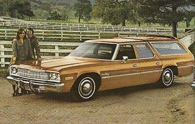 1975 Plymouth STATION WAGON Brochure / Pamphlet : FURY,GRAN,CUSTOM,Wagons, '75