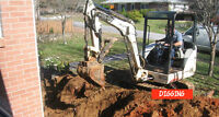 Excavation services for sewer repair