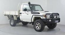 2009 Toyota Landcruiser VDJ79R 09 Upgrade GXL (4x4) White 5 Speed Manual Cab Chassis Kingsgrove Canterbury Area Preview